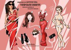 Lady Gaga Paper Doll: Versace Dinner by DibuMadHatter.deviantart.com on @deviantART