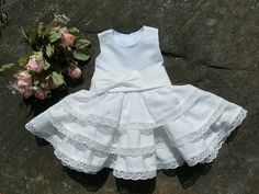 Baby baptism dress. Infant pageant dress. by englaCharlottaShop