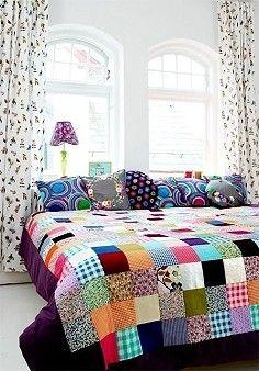 .Square block quilt