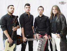"""The Band! Daniele Tari - growls, piano & keyboards Valerio Specchio - guitars Antonio Pasquariello - bass Carlo """"Charlie Ripper"""" Chiappella - drums"""