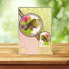 This card was made using the 'Whitethroat & Greenfinch' topper set from the Birds of Britain Collection