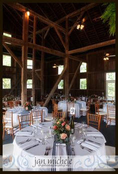 Springfield Manor Wedding Pictures Barn Reception Navy And C Accents
