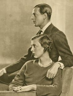 """The Royal Order of Sartorial Splendor: Flashback Friday: British Engagement Rings, Part 2: Princess Marina's engagement ring is described by Leslie Field as a """"square 7 carat Kashmir sapphire with a baguette diamond on either side set in platinum""""."""