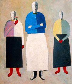 Title:3人の少女  Three Girls  Три девушки  Artist:カジミール・マレーヴィチ  Kazimir Malevich  Казимир Малевич  Date:1932