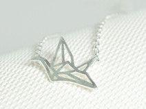 Sterling Silber Halskette Kran Vogel