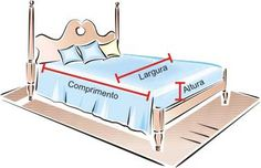 Medidas - Letra V Cama Mesa e Banho