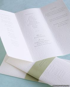 Wedding Programs.  Simple and soft!