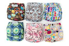 Alva Baby Pack Fitted Pocket Cloth Diaper with 2 Inserts Each (Girl Color) Modern Cloth Nappies, Cloth Diapers, Alva Baby, Baby Due, Surprise Baby, Diaper Covers, Fancy Pants, Baby Hacks, Cute Pattern