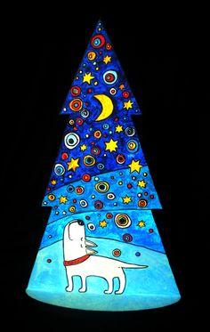 Festive series of fir-trees.Each 30 centimeters high. by vsesviatskaya anna, via Behance