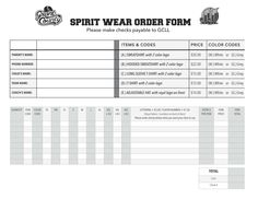 Excel Shirt Order Form Template  Besttemplates  Sample Order