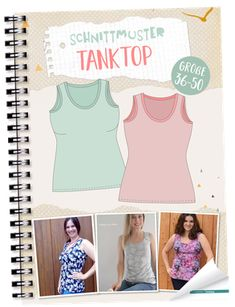 Diy And Crafts, Arts And Crafts, Diy Tops, Free Books, Basic Tank Top, Tank Tops, Sewing, Pattern, Women