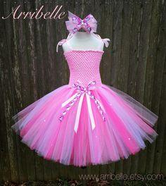 Pink Hello Kitty Tutu Dress by Arribelle on Etsy