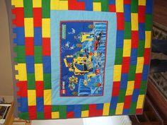 Lego quilt - inspiration for a lego bag...