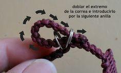 Como hacer un cierre de pulsera con dos anillas