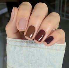Neutral Nail Color, Fall Nail Colors, Fall Pedicure, Manicure And Pedicure, Wedding Manicure, Fall Acrylic Nails, Fall Nail Art, Trendy Nails, Cute Nails