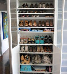 IKEA Billy shelving for shoe storage