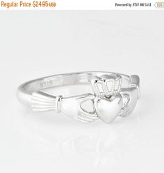 Hey, I found this really awesome Etsy listing at https://www.etsy.com/listing/202688950/sterling-silver-claddagh-ring-claddagh