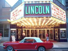 Lincoln Theatre in Decatur Illinois | They were auctioning off this Mustang for charity.