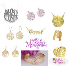 The Pink Monogram Jewelry Line