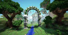 minecraft building ideas The entrance to the vale