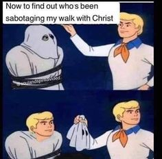 Awesome selection of hilarious and funny Christian memes! If you like funny religious memes - Humor Funny Church Memes, Church Humor, Catholic Memes, Funny Jesus Memes, Funny Quotes, Memes Funny Faces, Funny Gifs, Funny Christian Memes, Christian Humor