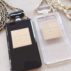 Chanel perfume case for iPhone 6plus black