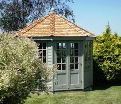 Wiveton Summerhouse on Coast This beautiful Summerhouse was installed in Suffolk close to the coast. Our customer chose our hexagonal Wiveton summerhouse with full wall, floor and roof insulation to enable her to use it all year round to take advantage of the beautiful coastal views, keeping it warm in winter and cool in the summer.