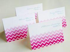 modern wedding stationery chevron escort cards