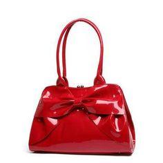 Lux De Ville Red Lady Lux Kiss Lock Bag <3 WANT!! <3