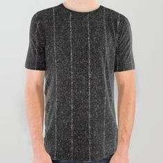 Charcoal Grey Pinstripe All Over Graphic Tee Strawberries And Cream, Printed Shirts, Compliments, Charcoal, Graphic Tees, Men Casual, Black And White, Party Gifts, Grey