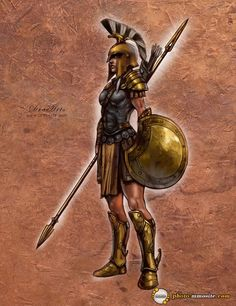 Makes a mockery of the REAL reason Spartan women were valued (only Spartan mothers bear Spartan sons) but it's an interesting example of the fictional female armor being LESS revealing than the historical male version.
