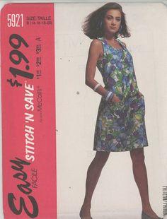 Vintage  Misses Jumpsuit Sewing Pattern Mccalls 5921 Size 14-20 Uncut