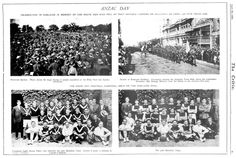 ANZAC Day in Pictures Around Australia in the Years 1920 & 1922 Includes a poem titled Gallipoli by P. of Anson's Bay, Tasmania Anzac Day Australia, South Australia, Poem Titles, World War One, Historical Pictures, Tasmania, Wwi, 1920s, The Past