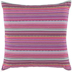 Multi Coloured Woven Square Cushion 45cm x 45cm