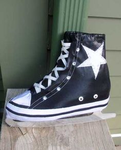 Custom Made Ice skating costume accessory - Converse style sneaker boot cover