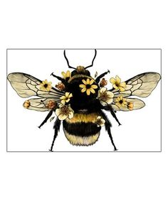 Bumble Bee Tattoo, Wings Sketch, Bee Painting, Insect Art, Bee Art, Framed Prints, Art Prints, Canvas Prints, Bees Knees