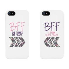 Best Friends Phone Cases - BFF Floral Phone Covers for iphone 4, iphone 5, iphone 5C, iphone 6, iphone 6 plus, Galaxy S3, Galaxy S4, Galaxy S5, HTC M8, LG G3 #Iphone