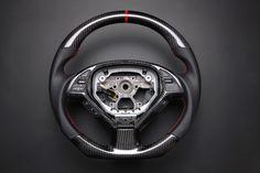 Custom Carbon Fiber, Flat Bottom Steering Wheel
