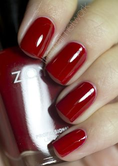 Zoya Designer Collection - Rekha is a beautiful shade of blood red.