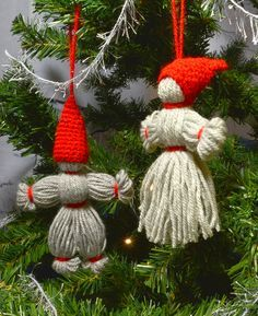 Yarn gnomes. Free Swedish tutorial