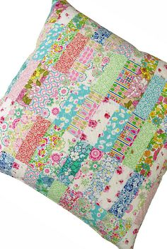 Liberty Lifestyle fabric on pillow - Red Pepper Quilts