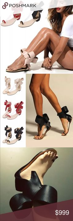 Spring/Summer•Big Bow Ankle Strap Leather Sandals• Spring/Summer•Big Bow Ankle Strap Vegan Leather Sandals• Spring/Summer 2017 Shoe Trends / Black / Red / Nude/Tan • Easter / Spring / Festival / Coachella / Casual / Classy / Beautiful / Luxury Shoes / Like this listing and comment below to get first dibs! Shoes Sandals