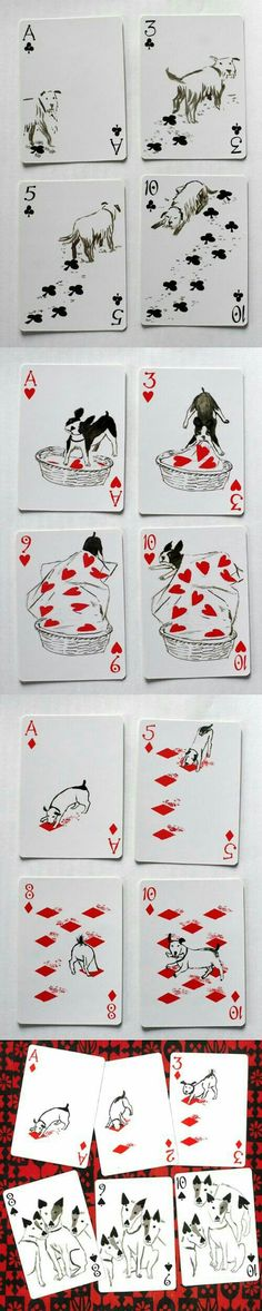 dogs playing cards / Hunde Spielkarten 2