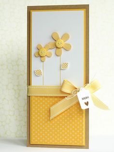 Yellow Mum card from lime doodle
