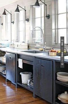 Kitchen lighting gray rustic chic check out more kitchen cabinet