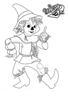 the wizard of oz scarecrow from the wizard of oz coloring page