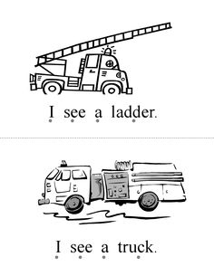 Fire Truck coloring pages with Firefighter Worksheet Kids