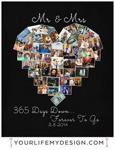 Anniversary Gifts For Husband One Year Photos Wedding Heart Shaped Photo Collage Collages My Portfolio