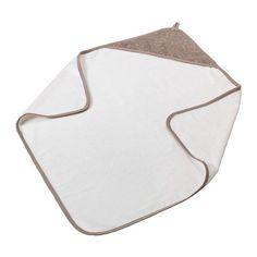 ÄLSKAD Toalha de banho de bebé c/ capuz IKEA A presilha permite pendurar num gancho.
