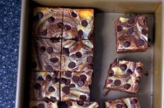 I love this recipe for cheesecake-marbled brownies from smitten kitchen.